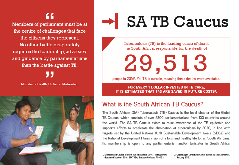 The South African TB Caucus: Recruiting MPs