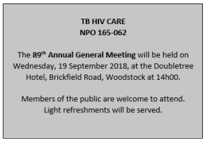 TB HIV Care's AGM