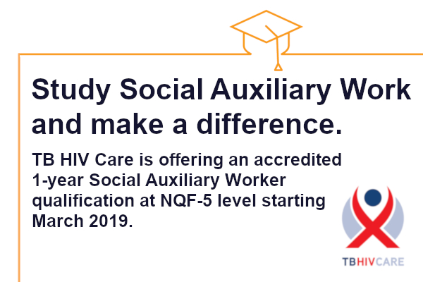 TB HIV Care launches new Training Academy with 1-year Social Auxiliary Worker Qualification